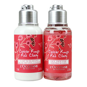 L'Occitane Red Cherry Set 2 Items(Shower Gel& Lotion)75ml
