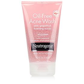 Neutrogena Oil-Free Acne Wash Pink Grapefruit Foaming Scrub 124ml
