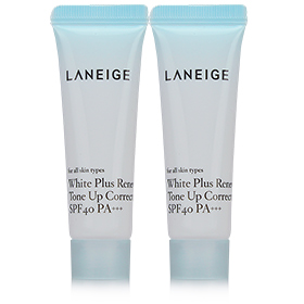 แพ็คคู่ Laneige White Plus Renew Tone UP Corrector (10ml x 2)