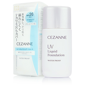 Cezanne UV Liquid Foundation Water Proof SPF26/PA++ #20 30ml