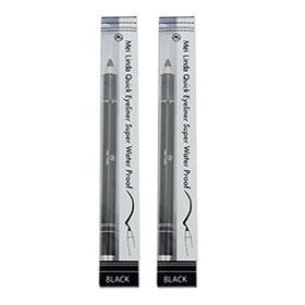 แพ็คคู่ Mei Linda Quick Eyeliner Super Water Proof #Black (0.75g x2)