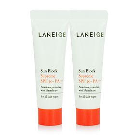 แพ็คคู่ Laneige Waterproof Sun Block Supreme SPF50+PA+++ (10mlx2)