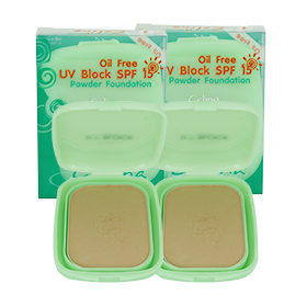 แพ็คคู่ Celina Oil Free UV Block SPF15 Powder Foundation#01 (14gx2)