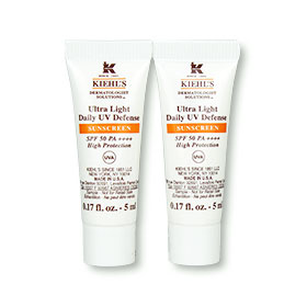 แพ็คคู่ Kiehl's Ultra Light Daily UV Defense Sunscreen SPF50 PA++++ (5ml x 2)