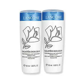 แพ็คคู่ Lancome Galateis Douceur Gentle Softening Cleansing Fluid Face & Eyes (50ml x2)