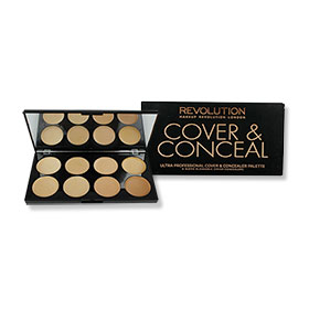 Makeup Revolution Ultra Professional Cover & Conceal Palette #Light-Medium 10g