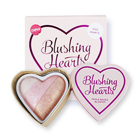 Makeup Revolution Blushing Hearts Triple Baked Blusher #Iced Hearts 10g