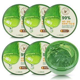The Saem Jeju Fresh Aloe Soothing Gel 99% Set (300ml x6)