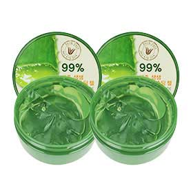 แพ็คคู่ The Saem Jeju Fresh Aloe Soothing Gel 99% (300ml x2)