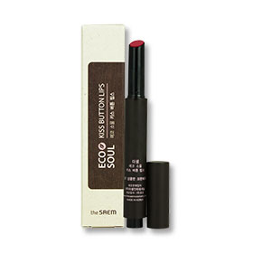 The Saem Eco Soul Kiss Button Lip #07 Fresh Cranberry