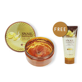 The Saem Snail Soothing Gel 300ml (Free Snail Soothing Gel 120ml)