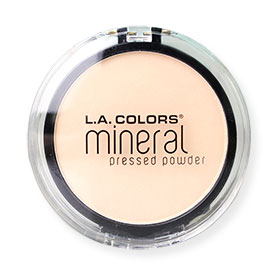 L.A. Colors Mineral Pressed Powder / Light ivory #CMP301