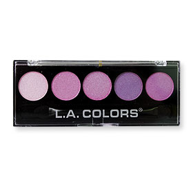 L.A. Colors 5 Color Metallic Eyeshadow / Lollipop #BES428
