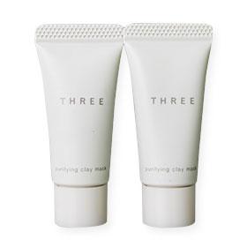 แพ็คคู่ THREE Purifying Clay Mask (8g x2)