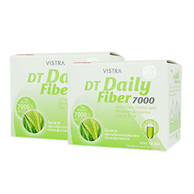 แพ็คคู่ Vistra DT Daily Fiber 7000mg Instant Fiber Powder Drink (10 Sachets x2)