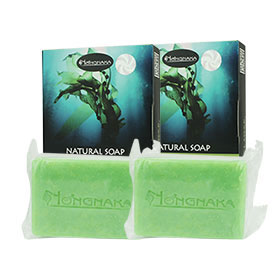แพ็คคู่ Nongnaka Seaweed Natural Soap (100g x2)