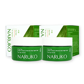 แพ็คคู่ Naruko Tea Tree Shine Control & Blemish Clear Night Gelly (15gx2)