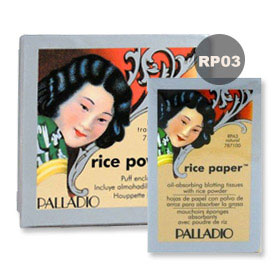 Palladio Rice Powder #Natural 17g (RP03) with Rice Paper #Natural 40 Tissues