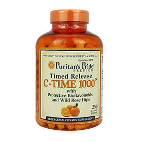 Puritan's Pride Timed Release C-Time 1000 mg (250 Caplets)