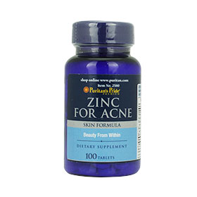 Puritan's Pride Zinc For Acne 100Tablets