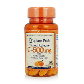 Puritan's Pride Timed Release C-500mg 100 Coated Caplets
