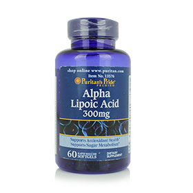 Puritan's Pride Alpha Lipoic Acid 300 mg (60 Softgels)