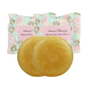 แพ็คคู่  Shiseido Thailand Splendid Year End Premium Honey Cake Soap (100g×2)