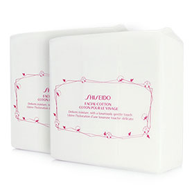 แพ็คคู่ Shiseido Facial Cotton (165 Sheets x2)