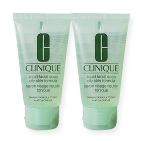 แพ็คคู่ Clinique Liquid Facial Soap Oily Skin Formula (30ml x 2)