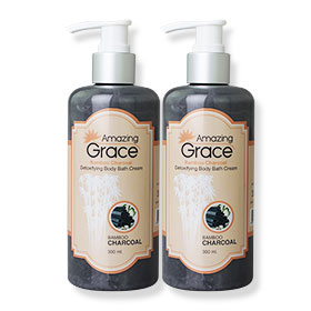 แพ็คคู่ Amazing Grace Bamboo Charcoal Detoxifying Body Bath Cream 300ml