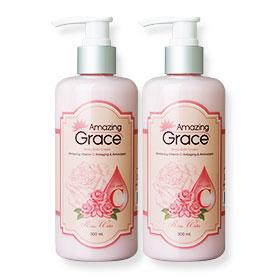 แพ็คคู่ Amazing Grace Body Bath Cream Whitening Vitamin C Antiaging & Antioxidant  300ml