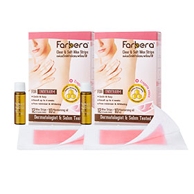แพ็คคู่ Farbera Clear & Soft Wax Strips (For underarm) (12pcs×2)