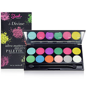 Sleek i-Divine Mineral Based Eye Shadow Palette #Ultra Mattes V1 Brights