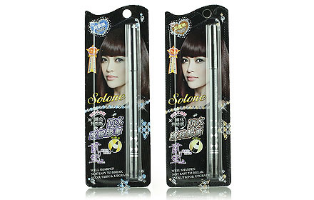 Set Solone Gel Eyeliner Pencil #สี Black Silver&Black Gold