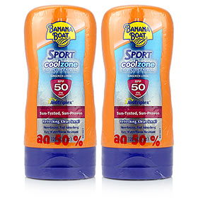ซื้อ 1 แถม 1 Banana Boat Sport Coolzone SPF50PA++++ Sunscreen Lotion(120ml×2)