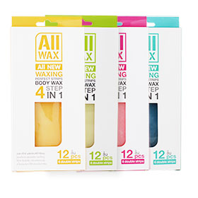 All Wax Waxing Perfect Strips Body Wax 4 Colors (12pcs x4)