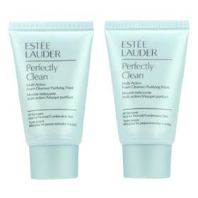 แพ็คคู่Estee Lauder Perfectly Clean Multi-Action Foam Cleanser/Purifying Mask 30ml