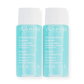 แพ็คคู่ Clarins Instant Eye Make-Up Remover Waterproof & Heavy Make-Up (30ml×2)