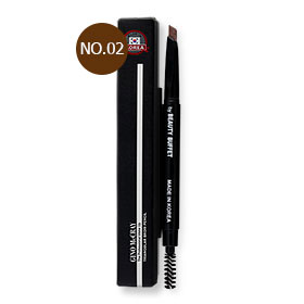 Beauty Buffet Gino McCray The Professional Make Up Triangular Brow Pencil #No.02 Auburn