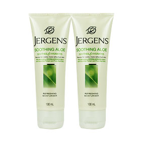 แพ็คคู่ Jergens Soothing Aloe Soothes and Hydrates Refreshing Moisturiser (100ml x2)