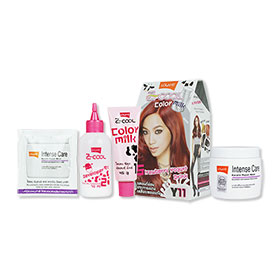 Set Lolane Z Cool Color Milk #Y11 Strawberry Yogurt Drink (Box) & Intense Care Keratin Repair Mask (Coloring) 200g