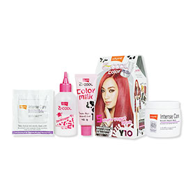 Set Lolane Z Cool Color Milk #Y10 Sakura Yogurt Drink (Box) & Intense Care Keratin Repair Mask (Coloring) 200g