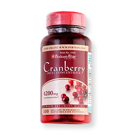 Puritan's Pride Cranberry Fruit Concentrate 100 Softgels