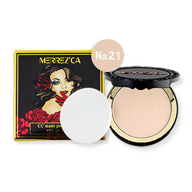 Merrez'ca CC Matte Powder Cake #Light Nude