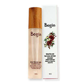 Begin Natural Moisturizing Face Mist Semi-Serum Semi-Toner Antioxidant 120ml