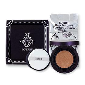 Lotree Rosa Davurica Powdery Cushion SPF50 PA+++ Free Refill #21 (15g + 15g)