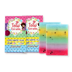 แพ็คคู่ OMO White Plus Soap Mix Color (100g x2)