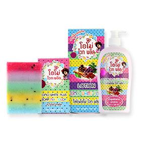 Set OMO White Plus Lotion ++Glutathione 500ml & OMO White Plus Soap Mix Color 100g