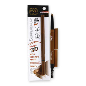 Mee Superbrow Triangle & 3D Auto Eyebrow Pencil  # 03 Light Brown