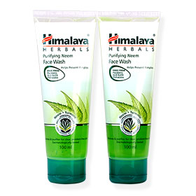 แพ็คคู่ Himalaya Herbals Purifying Neem Face Wash (100mlx2pcs)